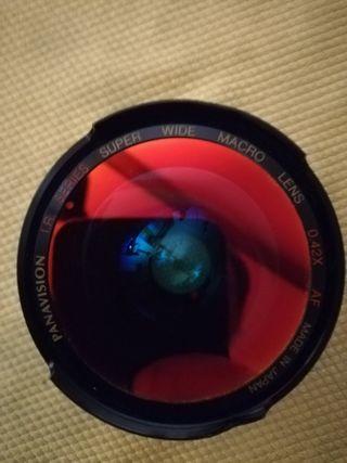Lente fisheye, ojo de pez, macro panavision 0.42X