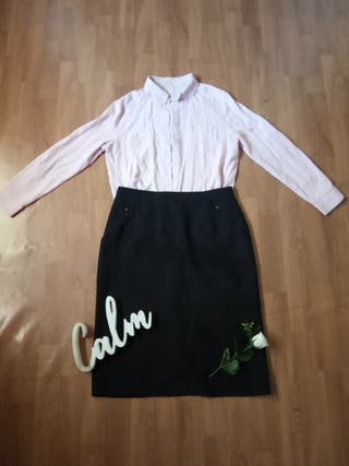 Outfit elegante L falda y blusa
