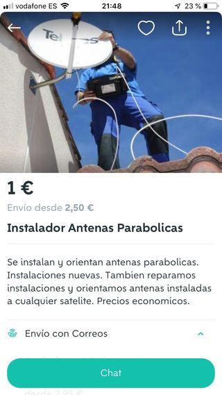 Instalador de antenas y parabolicas