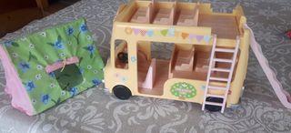 Autobus y Tienda de campaña Sylvanian Familiy