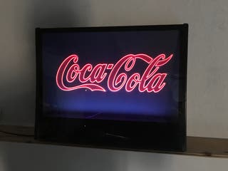Cartel luminoso Coca Cola antiguo