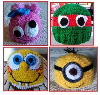 Gorros crochet hechos a mano
