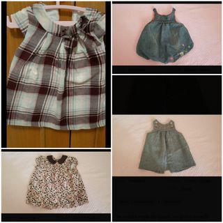 Lote vestidos bebé 6 meses