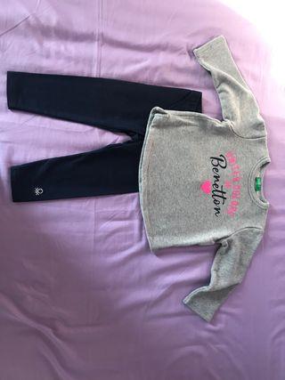 Conjunto Benetton niña 12 meses