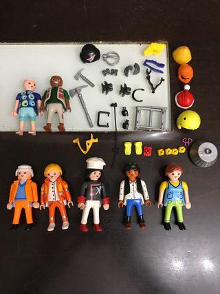 Playmobil 7 muñecos y accesorios