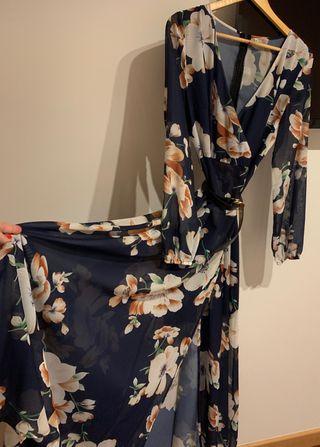Vestido floral manga larga veryvoga