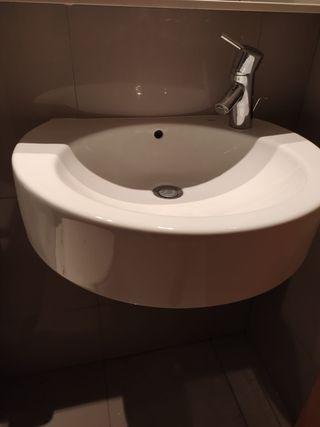 Lavabo / Lavamanos pica Roca 45x30 blanca