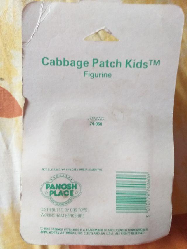 Antigua figura de goma Cabbage patch kids