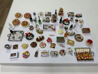 Mini artículos para Navidad casa de muñecas 1:12