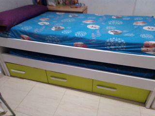 cama nido , dos camas