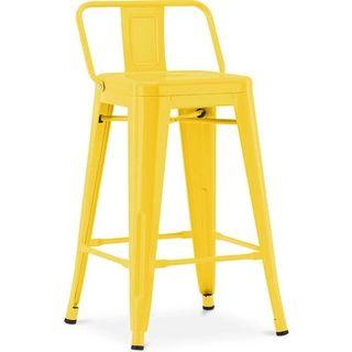 Taburete silla Tolix industrial amarilla