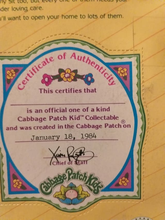 Antiguo muñeco articulado Cabbage patch kids