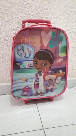 Maleta niña trolley. Doctora juguetes