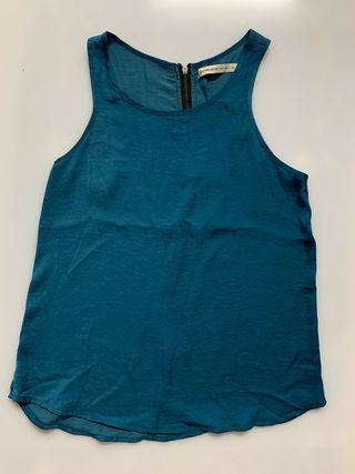 Camiseta de tirantes azul de Stradivarius