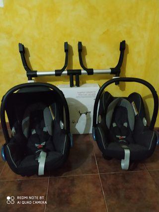 lote 2 maxicosi cabriofix y adaptador Bugaboo donk
