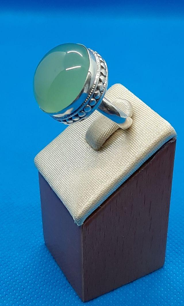 Anillo vintage de plata 925 y posible Aventurina