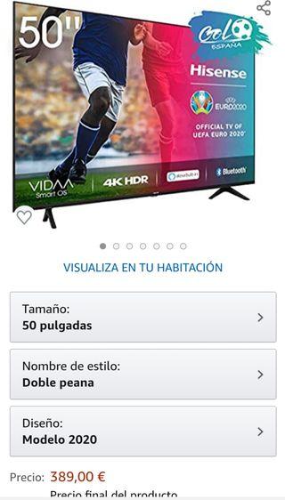 "Televisor 50"" Smart tv 4k hisense garantía"