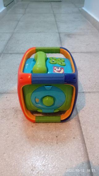 Cubo didáctico con sonidos BEBE