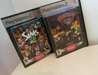 dos juegos ps2 x 4€
