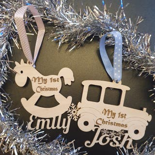 Laser cutting PERSONALISED(your name)Baubles