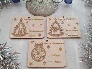Merry Christmas Personalised tag, card