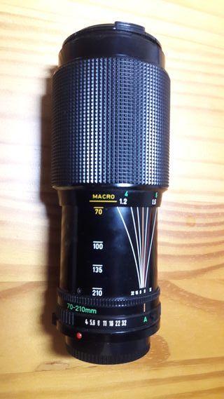 OBJETIVO ZOOM Canon FD 70-210mm f/4.0