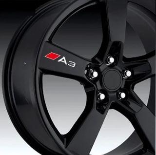 Pack de 4 Uds Pegatinas Audi A3 para llantas,chapa