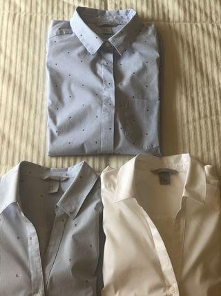Lote de 3 camisas mujer H&M, manga larga. de segunda