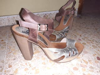 Zapato Sandalia de vestir de tacón con plataforma