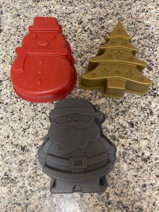 Moldes de silicona navidad