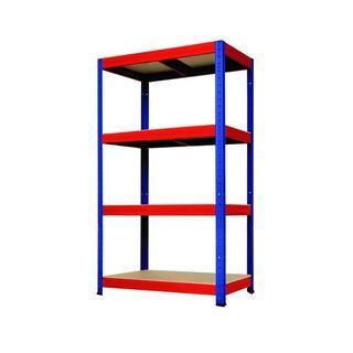 Estanterías metal + madera 4B (75 x 180cm)