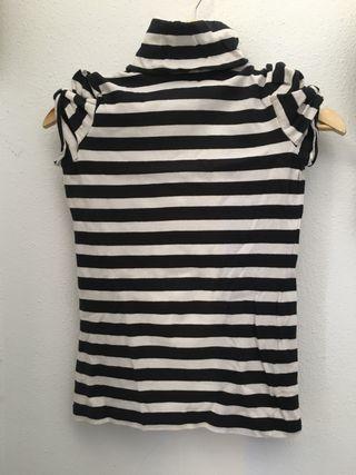 Blusa/Jersey sin mangas de cuello alto - Chica