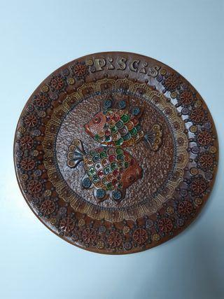 Plato cerámica Portaceli