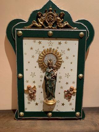 Virgen del Pilar cuadro marco