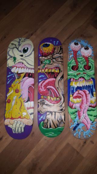 Tablas de skate pintadas a mano