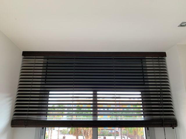 Persianas cortinas venecianas madera de calidad