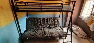 litera con sofá cama