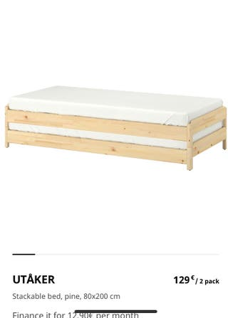 Litera / dos camas individuales ikea
