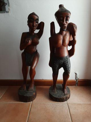 figuras de madera arte étnico africano