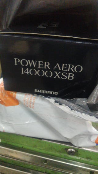 pareja de carretes Shimano power Aero 14000 xsb