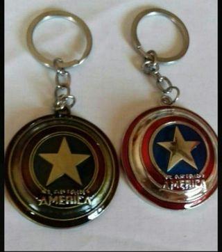 escudo capitán América en llavero nuevos