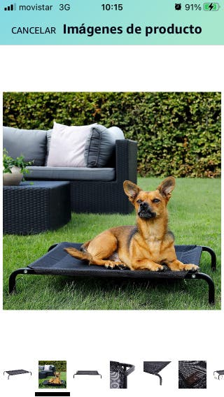 New Elevated Pet Bed 106 x 62 cm