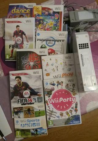 Consola Wii + 9 juegos