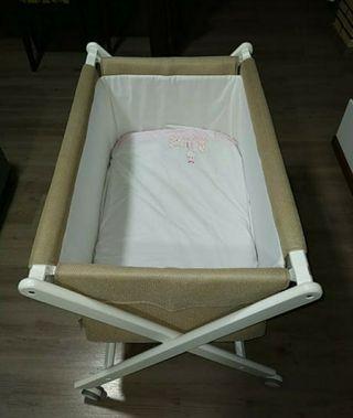 cuna plegable con colchón,ideal para viajes o segu