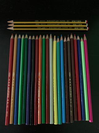 22 lápices de colores Alpino + 3 lápices normales