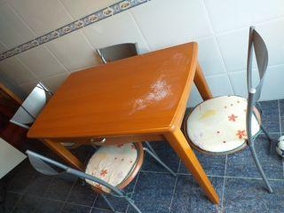 mesa cocina mas 4 sillas