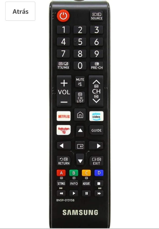 mando Samsung Smart TV