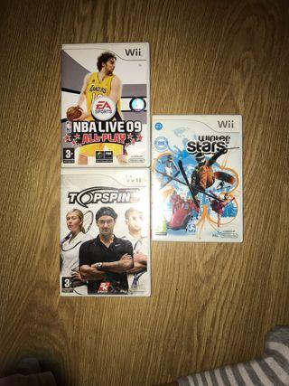 Pack 3 juegos de la Wii