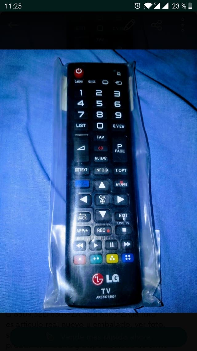 mando nuevo para tv de LG Smart tv solo envios