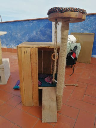 Juego/mueble para gatos
